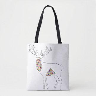 Geometrische Hirsch-Tasche Tasche