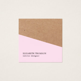 Geometrische Innenarchitektur elegantes Quadratische Visitenkarte