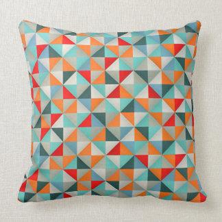 Geometrische Kaleidoskop-Dreiecke Kissen