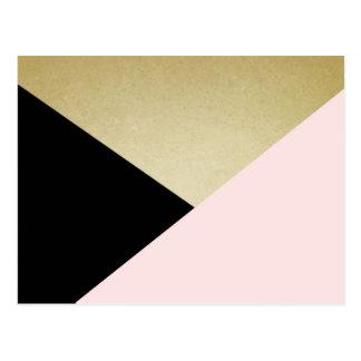 Geometrische Karten-leeres Briefpapier Postkarte