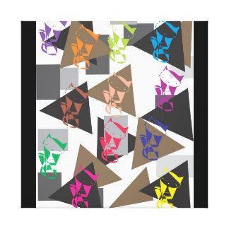 Geometrische Katze Leinwanddruck