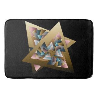 Geometrische metallische Dreieck-Kunst Badematte