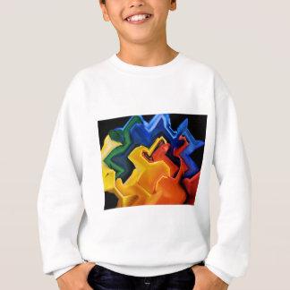 Geometrische multi Farben Sweatshirt