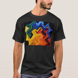 Geometrische multi Farben T-Shirt