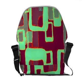 Geometrische Neonquadrate Kurier Tasche