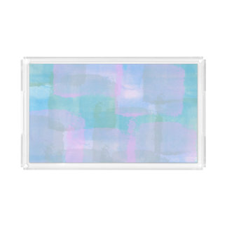 Geometrische Pastelllinien abstrakter Acryl Tablett