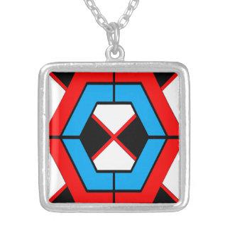Geometrische quadratische Halskette