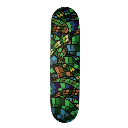 Geometrische Vision 19,1 Cm Old School Skateboard Deck