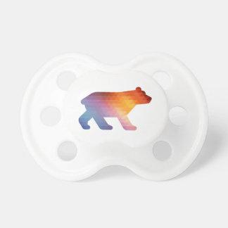 Geometrischer Baby-Bär 🐻 Schnuller