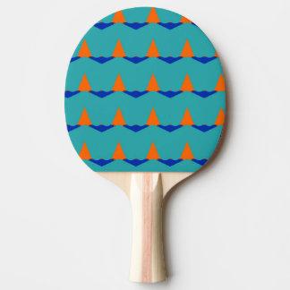 Geometrischer Entwurf auf Klingeln Pong Paddel Tischtennis Schläger