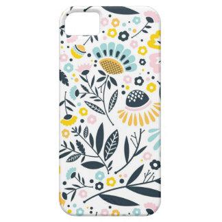 Geometrischer Garten-Blumenpastellmuster iPhone 5 Hülle