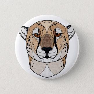 Geometrischer Gepard Runder Button 5,1 Cm