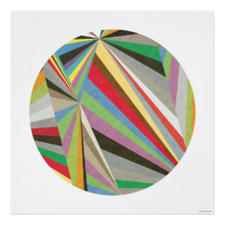 Geometrischer mehrfarbiger Kunst-Druck I Poster