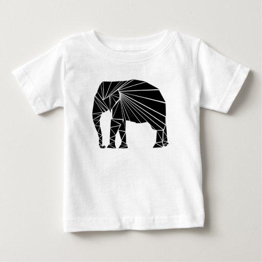 Geometrischer schwarzer Elefant Baby T-shirt