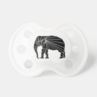 Geometrischer schwarzer Elefant Schnuller