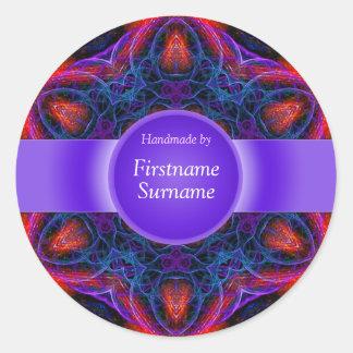 Geometrischer Stern-Mandala-Aufkleber rund Runder Aufkleber