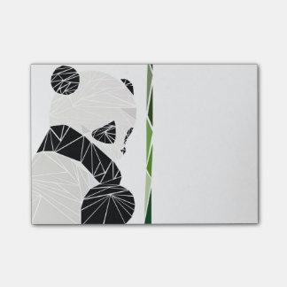 Geometrischer trauriger Panda Post-it Klebezettel
