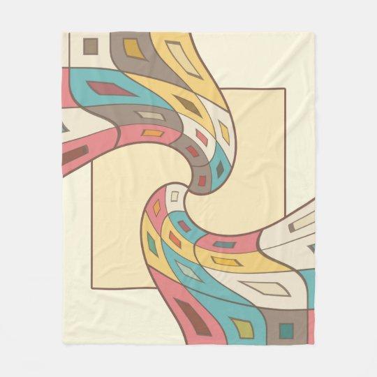 Geometrisches abstraktes fleecedecke