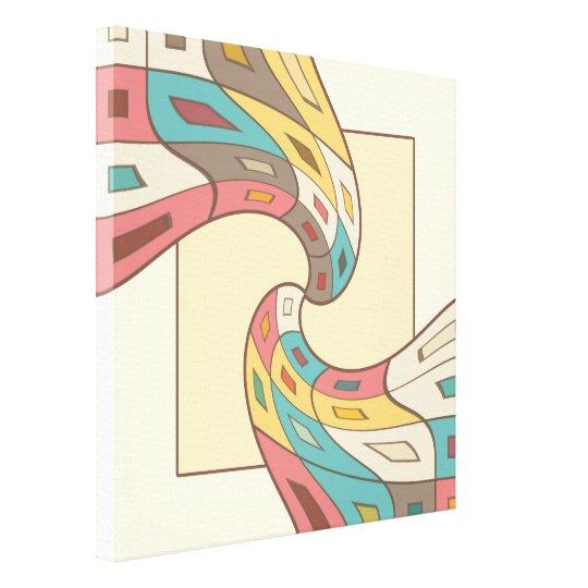 Geometrisches abstraktes leinwanddruck
