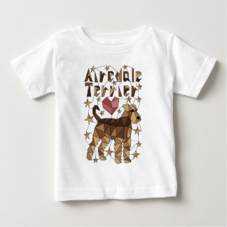 Geometrisches Airedale Terrier Baby T-shirt