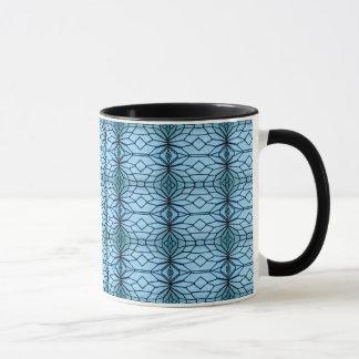Geometrisches Blau Tasse