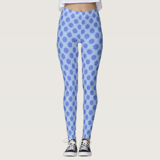 Geometrisches Blumenmotiv Leggings