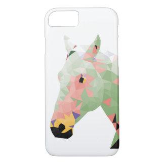 Geometrisches buntes Pferd iPhone 7 Hülle