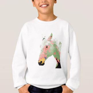 Geometrisches buntes Pferd Sweatshirt