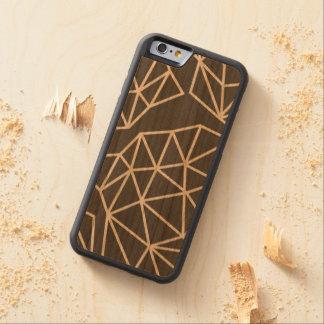Geometrisches Dreieckmuster Bumper iPhone 6 Hülle Kirsche