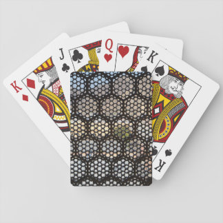 Geometrisches Gitterfenster, Indien Spielkarten