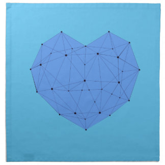 Geometrisches Herz Serviette