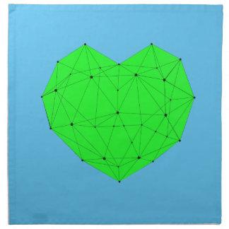 Geometrisches Herz Stoffserviette