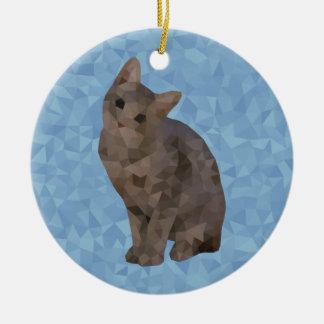Geometrisches Kätzchen Keramik Ornament