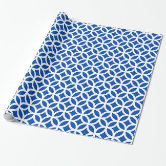 Geometrisches Kobalt-Blau-Packpapier Geschenkpapier