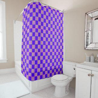 Geometrisches lila Muster Duschvorhang