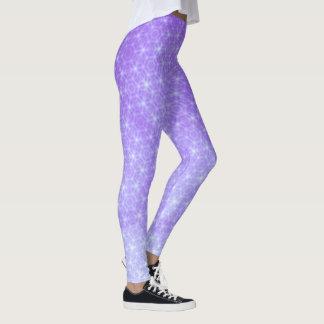 Geometrisches Lila und Lavendel Ombre Leggings