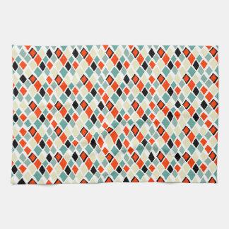 geometrisches Muster der modernen Retro bunten Handtuch