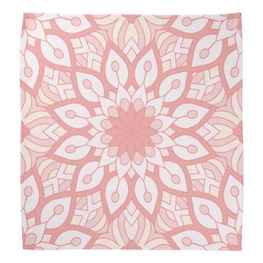 Geometrisches Muster der rosigen BlumenMandala Halstuch
