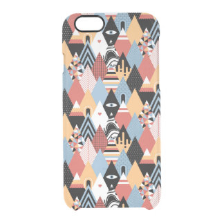Geometrisches Muster des modernen mystischen Durchsichtige iPhone 6/6S Hülle