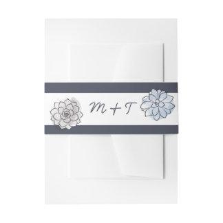 Geometrisches saftiges Hochzeits-Bauch-Band Einladungsbanderole