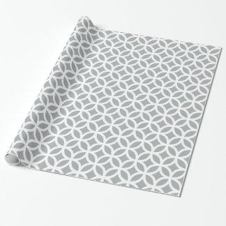 Geometrisches silbernes Grau-Packpapier Geschenkpapier