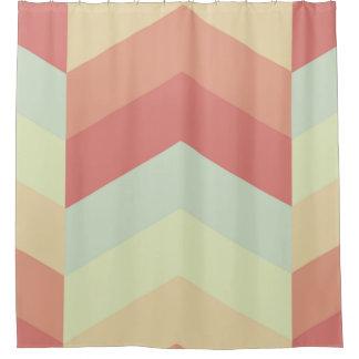 Geometrisches Zickzack Muster-coole Pastellfarben Duschvorhang