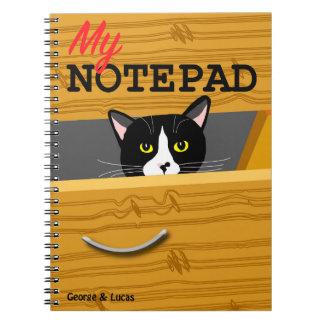 George- und Lucas-Fotonotizblock Notizblock