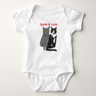 George- und Lucas-Katzenbabybodysuit Baby Strampler