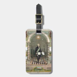 George Washington als Freimaurer Kofferanhänger