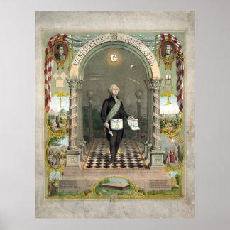 George Washington als Freimaurer Poster