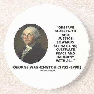 George Washington beobachten gutgläubiges Untersetzer
