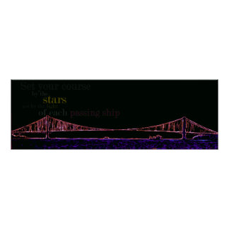 George Washington-Brücke, einzigartige Wandkunst Poster