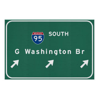 George Washington-Brücke NYC New York City NY Poster