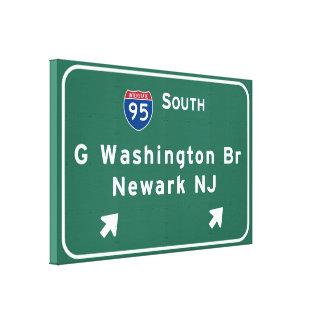 George Washington-Brücke zwischenstaatliches I-95 Leinwanddruck